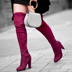 Burgundy Over-the-Knee Boots 7.5